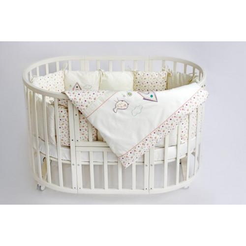 Комплект в кровать Lappetti Домик для птички для овальной кроватки 6 предметов