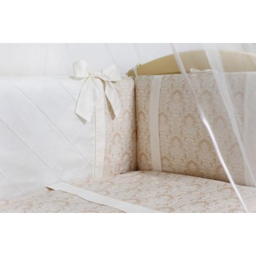 Комплект в кроватку Lappetti 6 предметов Эстель с бантиками