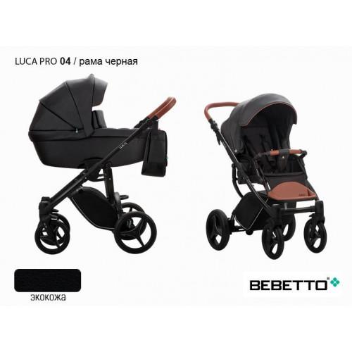 Коляска 2 в 1 Bebetto Luca Pro 100% экокожа