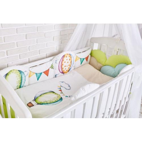 Комплект белья в кроватку Топотушки Воздушные шары 6 предметов