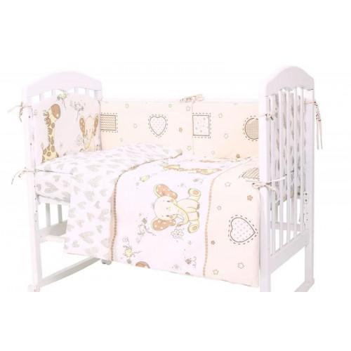 Комплект в кроватку Топотушки Жираф и Слоненок 6 предметов