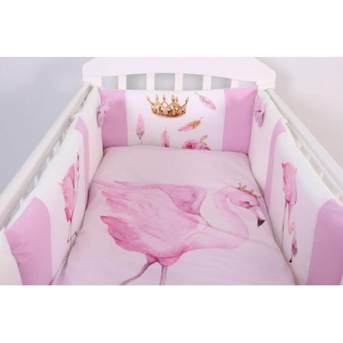 Комплект в кроватку Топотушки Фламинго 6 предметов