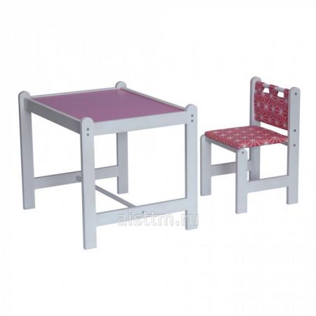 Набор игровой мебели Pixy (стол+стул) - розовый