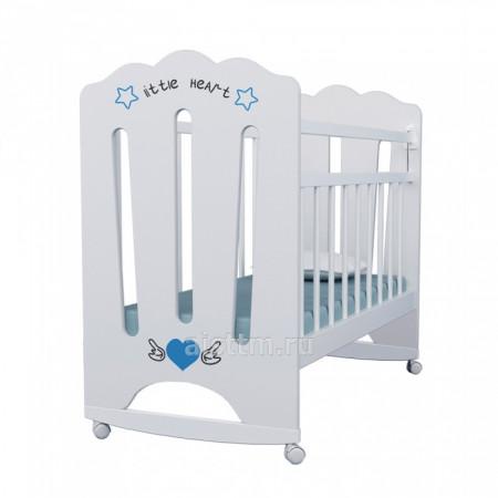 Кровать детская Little Heart, колесо-качалка