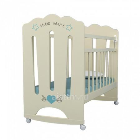 Кровать детская Little Heart, колесо-качалка - Бежевый