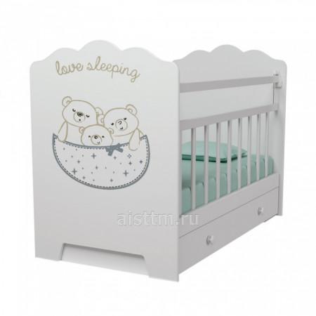Кровать детская love sleeping, маятник поперечного качания