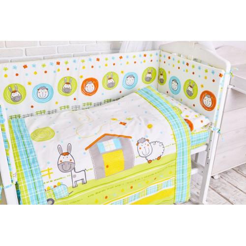 Комплект белья в кроватку Топотушки Ферма 6 предметов 651