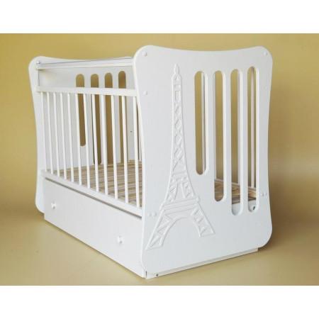 Кроватка детская «Вояж» маятник поперечный с ящиком