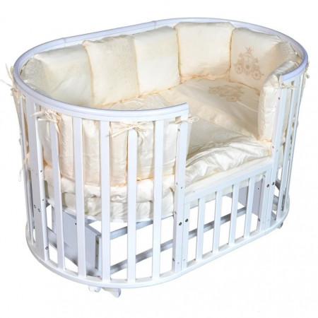 Кровать детская Aleksa 6 в 1 универсальный маятник - белый
