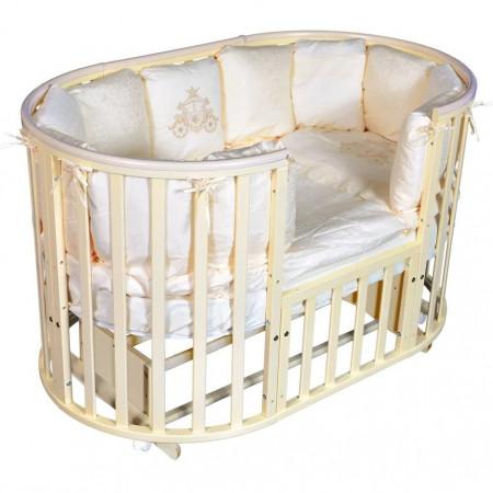 Кровать детская Aleksa 6 в 1 универсальный маятник - слон. кость