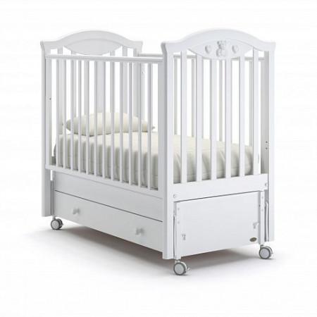 Детская кровать Nuovita Lusso swing (продольный маятник) - белый