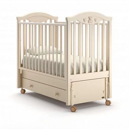 Детская кровать Nuovita Lusso swing (продольный маятник) - слоновая кость