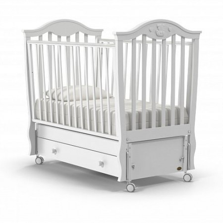 Детская кровать Nuovita Sorriso swing (продольный маятник) - белый