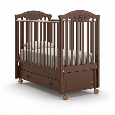 Детская кровать Nuovita Sorriso swing (продольный маятник) - тёмный орех