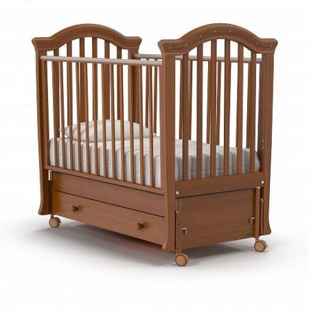 Детская кровать Nuovita Perla swing (продольный маятник) - орех