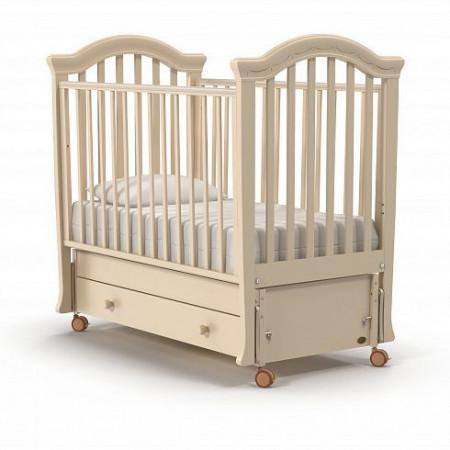 Детская кровать Nuovita Perla swing (продольный маятник) - слоновая кость