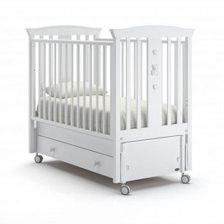 Детская кровать Nuovita Fasto swing (продольный маятник) - белый