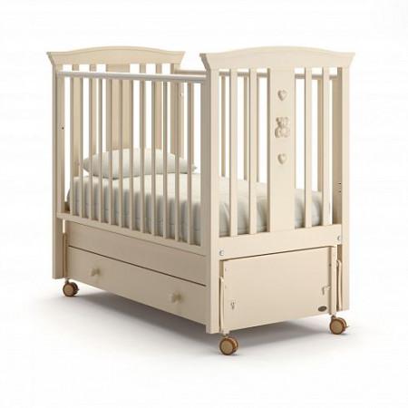 Детская кровать Nuovita Fasto swing (продольный маятник) - слоновая кость