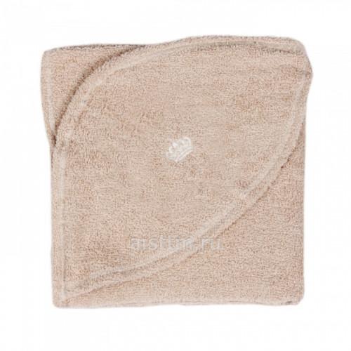 Пеленка-уголок с капюшоном махра 110x80