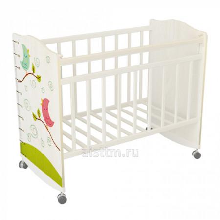 Кровать детская Морозко колесо качалка