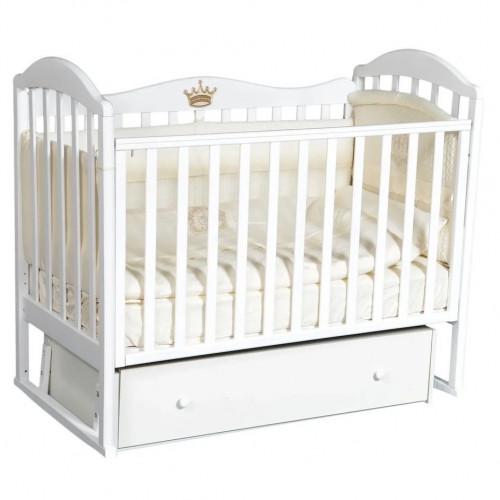 Кроватка детская Emily 1 универс.маятник, ящик,Корона