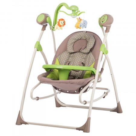 Люлька-качели Carrello Nanny CRL-0005 - Зеленый в горошек