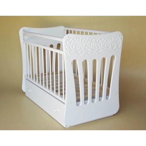 Кроватка детская Розали маятник поперечный с ящиком