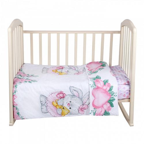 Комплект в кроватку 3 предмета ЗАЙКА БАЛЕРИНА