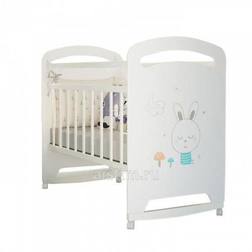 Кровать детская Lucy (фигур.спин., колесо-качалка)