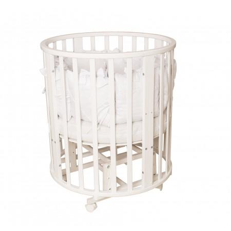 Кровать детская Incanto Северная Звезда 9 в 1 маятник-колесо - белый