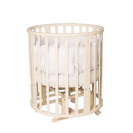 Кровать детская Incanto Северная Звезда 9 в 1 маятник-колесо - слоновая кость