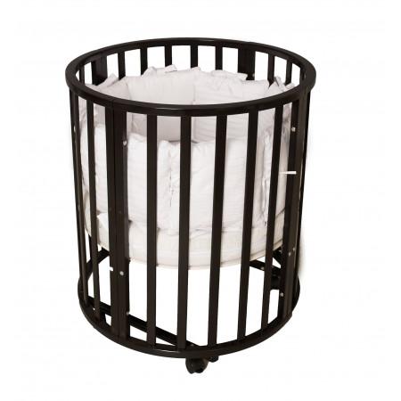 Кровать детская Incanto Северная Звезда 9 в 1 колесо - венге