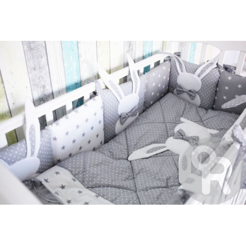 Комплект белья в кроватку 6 предметов Топотушки Зайка