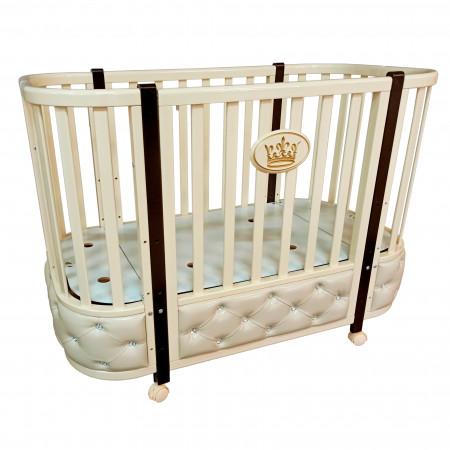 Кровать детская Esenia 1 (автостенка, колесо) - слоновая кость