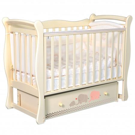 """Детская кроватка Camellia """"Мэри розовый/серый"""" (универсальный маятник)"""