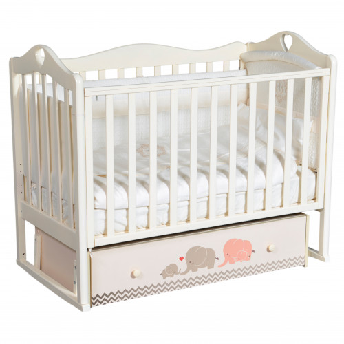 """Детская кроватка Venecia """"Мэри розовый/серый"""" (универсальный маятник)"""