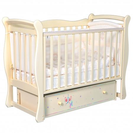 """Детская кроватка Camellia """"Радуга"""" (универсальный маятник) - слоновая кость"""