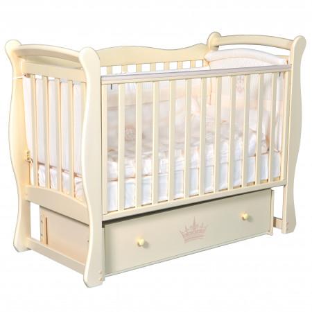 """Детская кроватка Camellia """"Версаль"""" (универсальный маятник) - слоновая кость"""