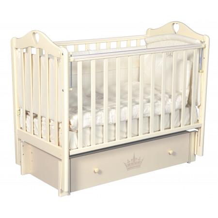 """Детская кроватка Estelle """"Версаль"""" (универсальный маятник) - слон. кость"""