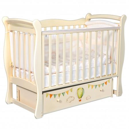 """Детская кроватка Camellia """"Путешествие на воздушном шаре"""" (универсальный маятник)"""