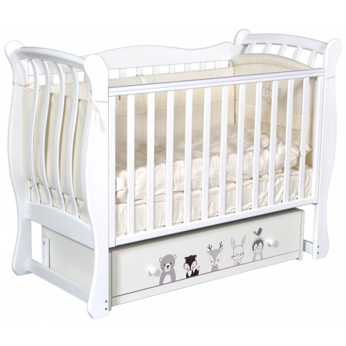 """Детская кроватка Tiffany """"Зверополис"""" (универсальный маятник)"""