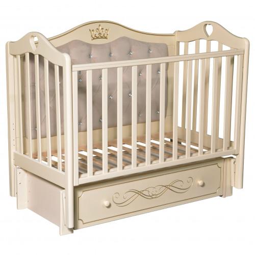 Кроватка детская Karolina 10 маятник, ящик