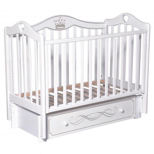 Кроватка детская Karolina 9 маятник, ящик