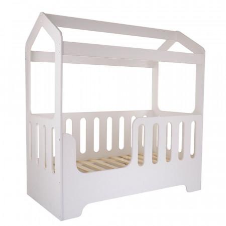 Кровать подростковая домик DOMMI - белый