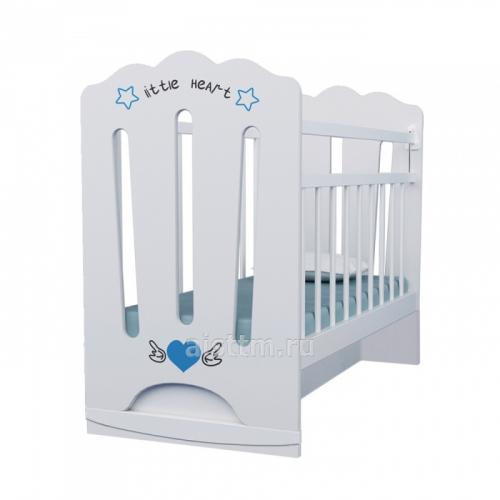 Кровать детская LITTLE HEART колесо-качалка, маятник