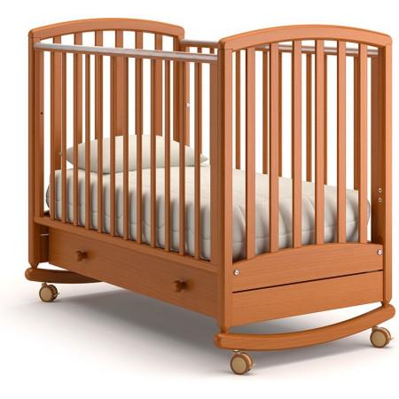 Детская кроватка Гандылян Дашенька качалка   -  Вишня