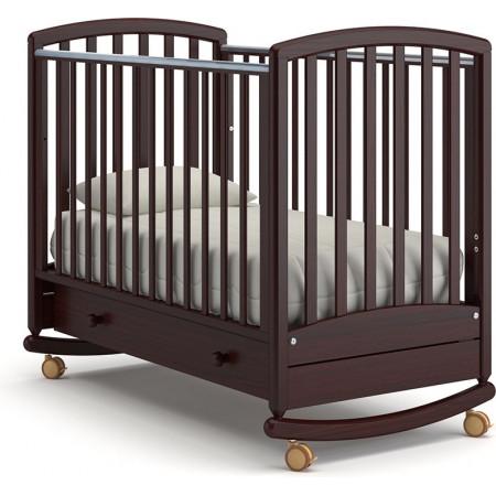 Детская кроватка Гандылян Дашенька качалка   -  Махагон