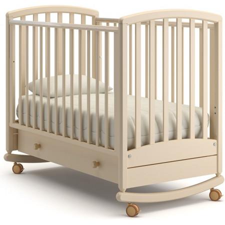 Детская кроватка Гандылян Дашенька качалка   - слоновая кость