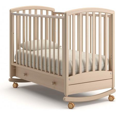 Детская кроватка Гандылян Дашенька качалка   -  Выбеленный Бук