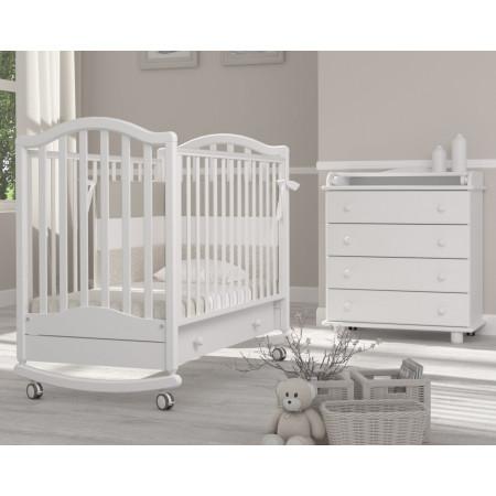 Детская кроватка Гандылян Лейла качалка   - белый